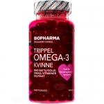 Biopharma Trippel Omega-3 Kvinne (120 капс)
