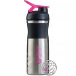 BlenderBottle SportMixer черно-розовый металлический 828 мл