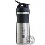 BlenderBottle SportMixer черный металлический 828 мл