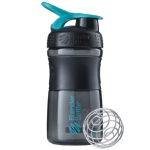 BlenderBottle SportMixer черно-голубой 591 мл