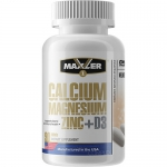 Maxler Calcium Magnesium Zinc + D3 (90 таб)