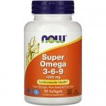 NOW Super Omega 3-6-9 (90 капс)